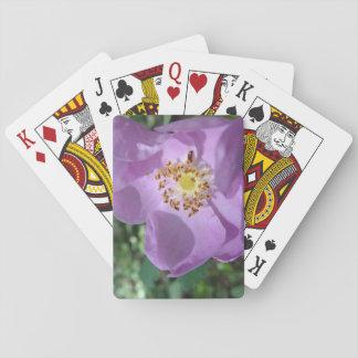 Jogo De Baralho Cartões de jogo roxos da flor