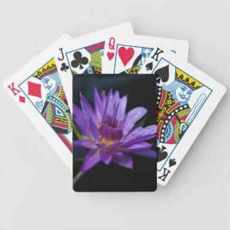 Jogo De Baralho Cartões de jogo roxos de Waterlily Lotus