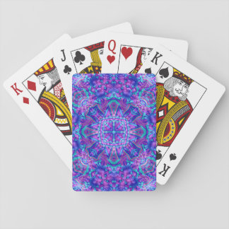 Jogo De Baralho Cartões de jogo roxos e azuis do caleidoscópio do