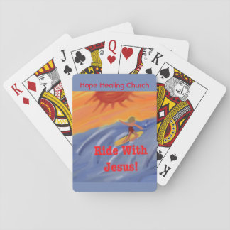Jogo De Baralho Cartões de jogo surfando de Jesus da igreja cura