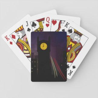 Jogo De Baralho Cartões escuros do jogador da torre de pulso de