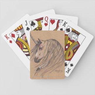 Jogo De Baralho Cartões nativos do unicórnio