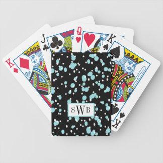 JOGO DE BARALHO CHIQUE QUE JOGA PONTOS DE CARDS_AQUA/WHITE NO