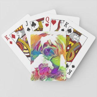 Jogo De Baralho Cobre do efeito do arco-íris os cartões de jogo de