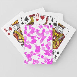 Jogo De Baralho Confetes cor-de-rosa brilhantes no branco