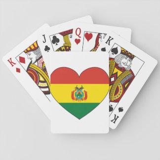 Jogo De Baralho Coração da bandeira de Bolívia