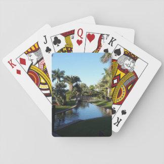 Jogo De Baralho Córrego de Tenerife com os cartões de jogo das