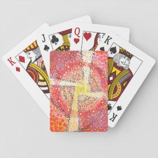 Jogo De Baralho Cruz branca - cartões abstratos do partido