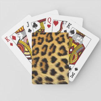 Jogo De Baralho Design do impressão do teste padrão do leopardo