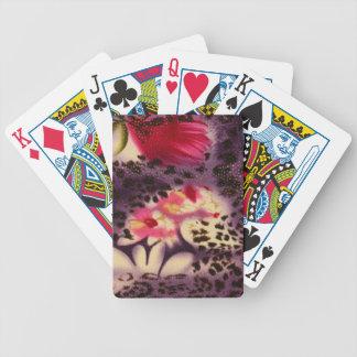 Jogo De Baralho Design roxo do impressão do leopardo das flores do