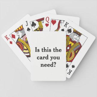 Jogo De Baralho É isto o cartão que você precisa? Plataforma de