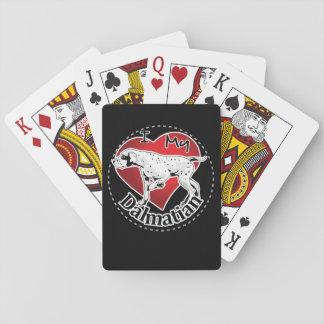 Jogo De Baralho Eu amo meu Dalmatian engraçado & bonito adorável