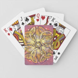 Jogo De Baralho Flor celta - cartões de jogo abstratos