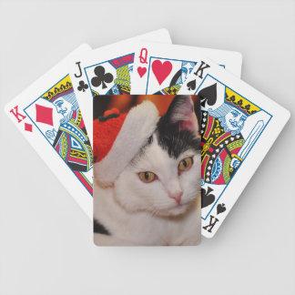 Jogo De Baralho Gato de Papai Noel - Feliz Natal - gato do animal