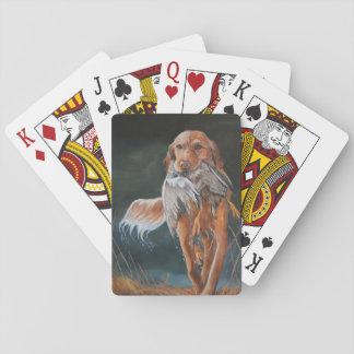 Jogo De Baralho Golden retriever/cartões de jogo da arte cão do