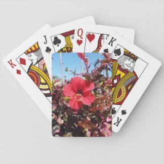 Jogo De Baralho Hibiscus vermelho