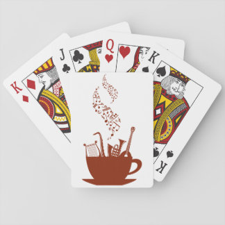 Jogo De Baralho Instrumentos musicais e cartões de jogo das notas