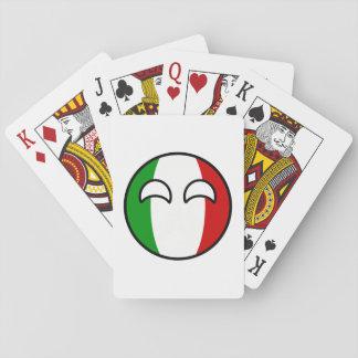 Jogo De Baralho Italia Geeky de tensão engraçada Countryball