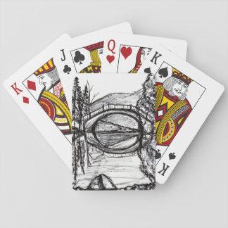 Jogo De Baralho Jogo de cartas da arte do Sharpie da reflexão da