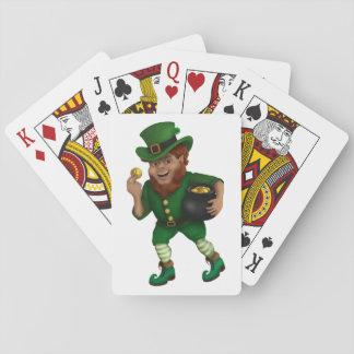 Jogo De Baralho Leprechaun afortunado do dia de St Patrick s