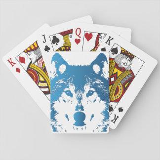 Jogo De Baralho Lobo do azul de gelo da ilustração