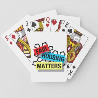 Jogo De Baralho Matérias justas do alojamento - cartões de jogo