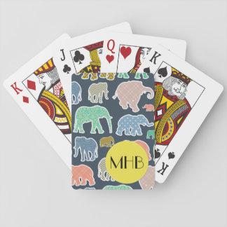 Jogo De Baralho Monograma - elefantes, bolinhas, ziguezague,