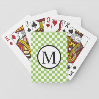 Jogo De Baralho Monograma simples com o tabuleiro de damas do