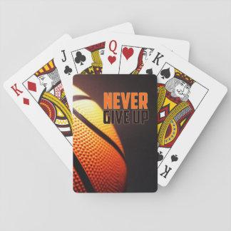 Jogo De Baralho Motivação do basquetebol - nunca dê acima pelo
