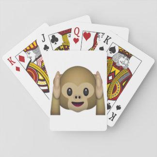 Jogo De Baralho Não ouça nenhum macaco mau - Emoji