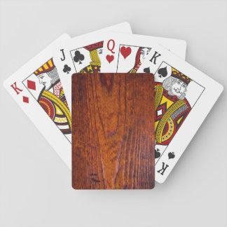 Jogo De Baralho Noite de madeira do póquer da foto da grão do