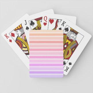 Jogo De Baralho O arco-íris claro tonifica cartões de jogo