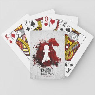 Jogo De Baralho O cavaleiro toma o penhor por cartões de jogo de