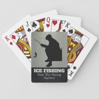 Jogo De Baralho O gelo que pesca somente o forte sobrevive a