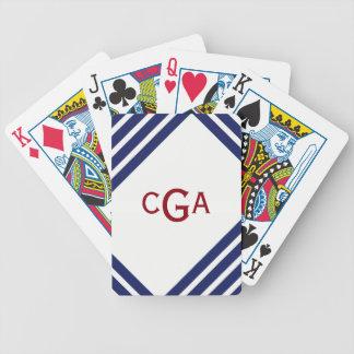 Jogo De Baralho O marinho listra cartões de jogo personalizados
