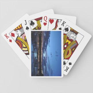 Jogo De Baralho O Rio Hudson na noite - cartões de jogo