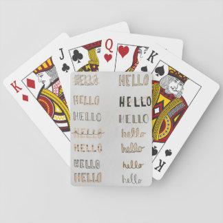 Jogo De Baralho Olá! cartões