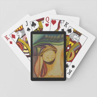Jogo De Baralho Olho na plataforma da arte do bolso de cartões