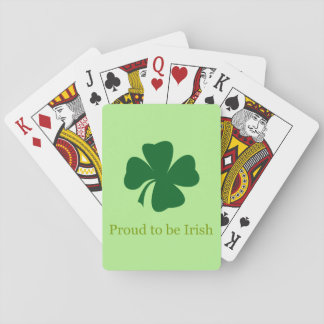 Jogo De Baralho Orgulhoso ser cartões de jogo irlandeses