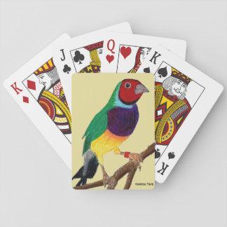 Jogo De Baralho ~ original da arte do ~ do passarinho de Gouldian