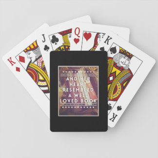 Jogo De Baralho Os cartões de jogo do amante de livro