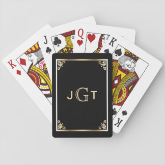 Jogo De Baralho Ouro preto elegante feito sob encomenda das