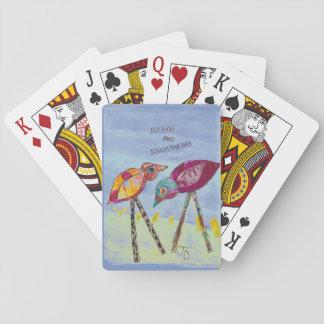 Jogo De Baralho Pássaro em cartões de jogo do Birdhouse