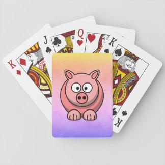 Jogo De Baralho PiggyWiggy pouco leitão bonito Pastel de Pigling