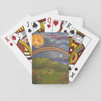 Jogo De Baralho Plataforma do arco-íris de cartões dobro