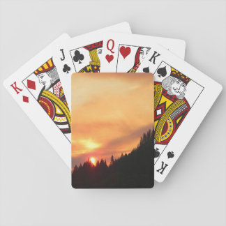 Jogo De Baralho Por do sol de Smokey sobre as montanhas…