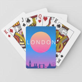 Jogo De Baralho Poster de viagens dos marcos de Londres