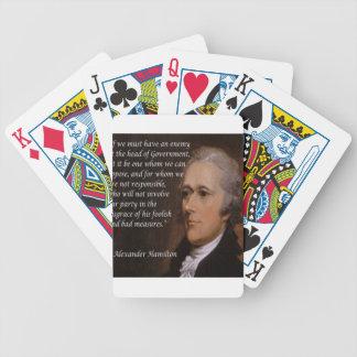 """Jogo De Baralho """"Presente do líder inimigo"""" de Alexander Hamilton"""