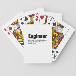 Jogo De Baralho Presente engraçado da definição do engenheiro para