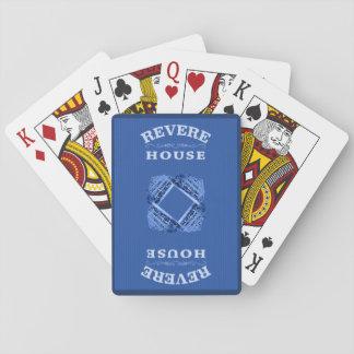 Jogo De Baralho Revere cartões de jogo da casa - plataforma azul